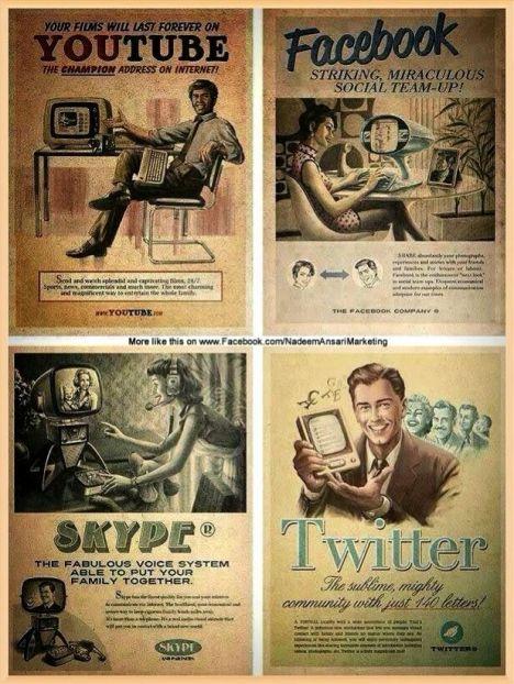 social networks vintage