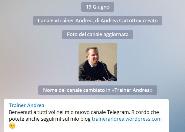 canale telegram di andrea cartotto