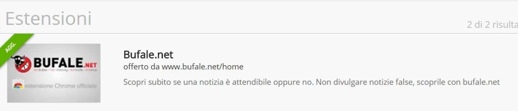estensione bufale net per chrome