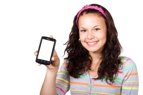 esempio uso smartphone alunna