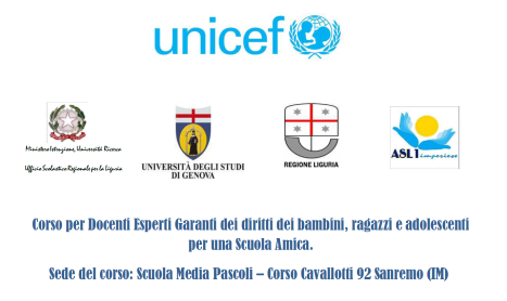 lezione cartotto corso unicef 28 novembre 2017 ore 17 Sanremo