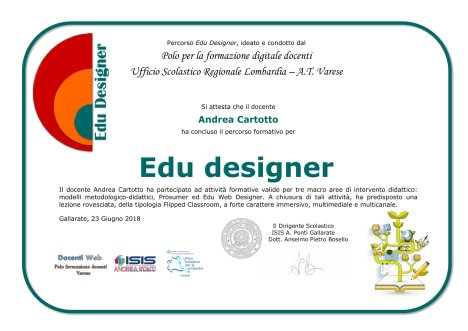attestato edu designer